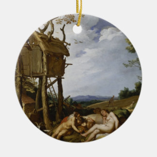 Parable of Wheat, Tares - Abraham Bloemaert (1624) Round Ceramic Decoration