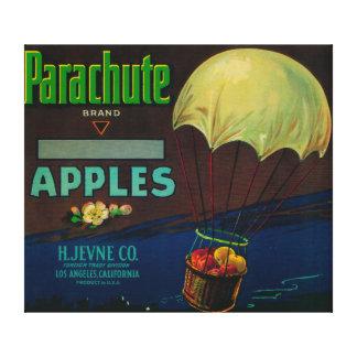 Parachute Apple Crate Label Canvas Print