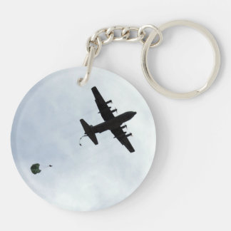 Parachute Drop EC-130H Compass Call Key Ring
