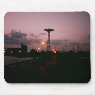 Parachute Jump, Coney Island at Sunset Mouse Pads