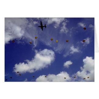 Parachute jump from Dakotas, Airborne Divisions, A Card