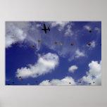 Parachute jump from Dakotas, Airborne Divisions, A Print