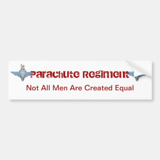 parachute regiment - equal bumper sticker