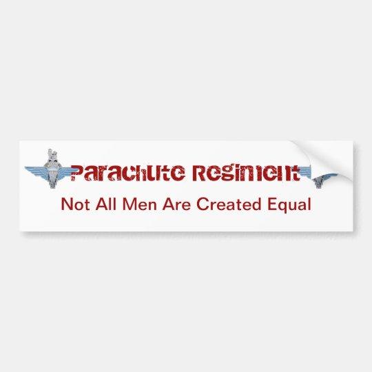 parachute regiment - equal bumper sticker
