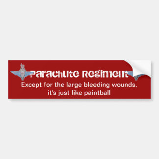 """parachute regiment """"paintball"""" sticker bumper sticker"""