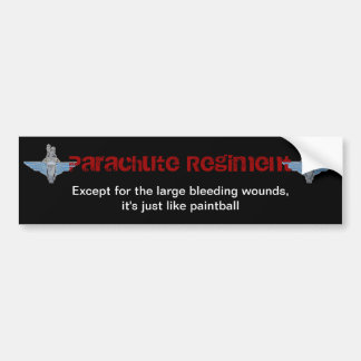 "Parachute Regiment ""paintball"" sticker Bumper Sticker"