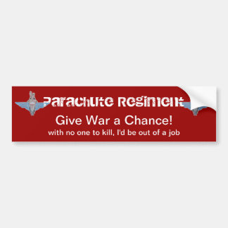 parachute regiment war sticker bumper sticker