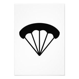Parachute skydiving announcement