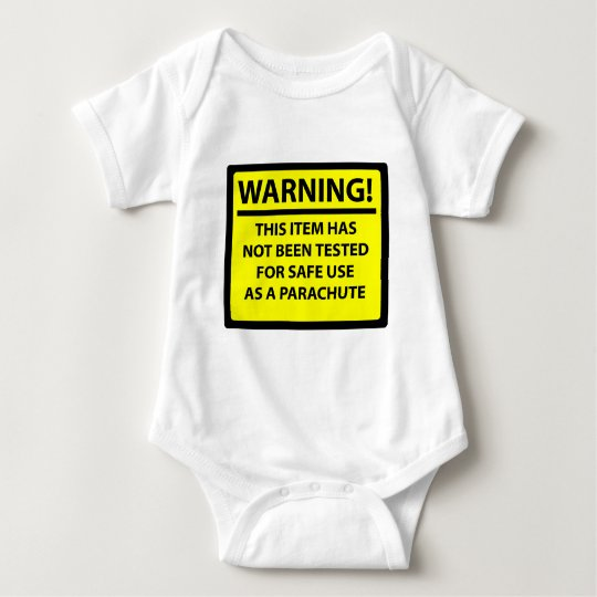 Parachute warning baby bodysuit