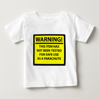 Parachute warning baby T-Shirt