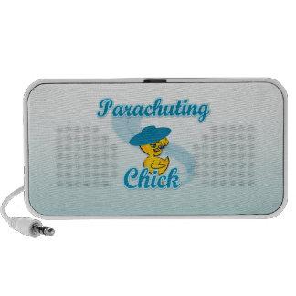 Parachuting Chick #3 Notebook Speakers