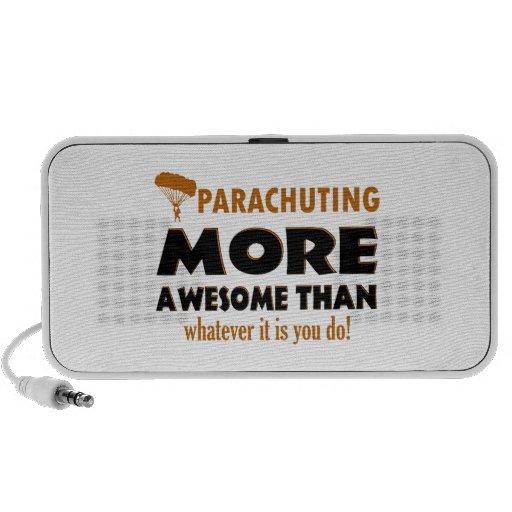 Parachuting designs speakers