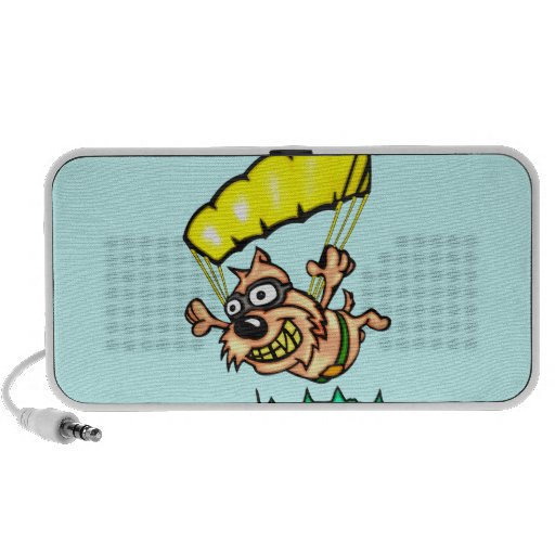 Parachuting Dog iPod Speaker