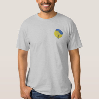 Parachuting Embroidered T-Shirt