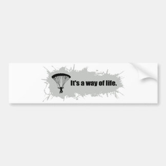 Parachuting is a Way of Life Bumper Sticker