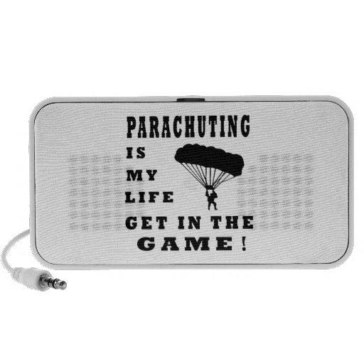 Parachuting Is My Life Laptop Speakers