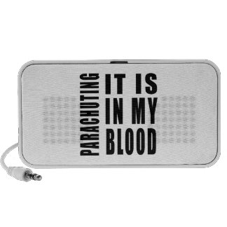 Parachuting It Is In My Blood Portable Speaker