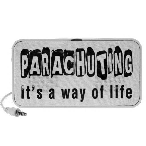 Parachuting It's a way of life Laptop Speaker