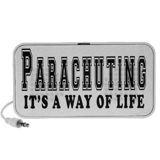 Parachuting It's way of life Notebook Speaker
