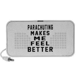 PARACHUTING Makes Me Feel Better Laptop Speaker