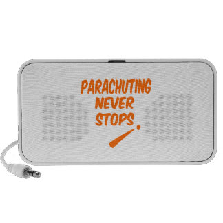 Parachuting. Never Stops Travelling Speakers