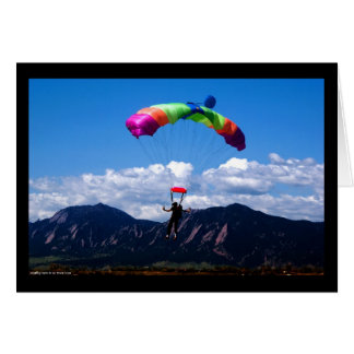 Parachuting Note Card