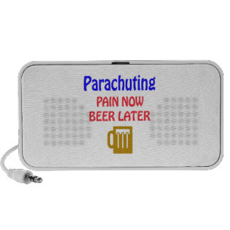 Parachuting pain now beer later mini speakers
