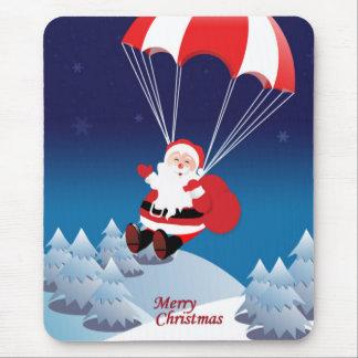 Parachuting Santa Mouse Mat