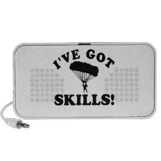 parachuting skills Vector Designs Portable Speakers