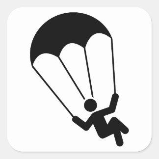 Parachuting Square Sticker