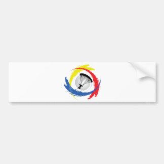 Parachuting Tricolor Emblem Bumper Sticker