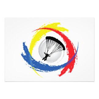 Parachuting Tricolor Emblem Announcement