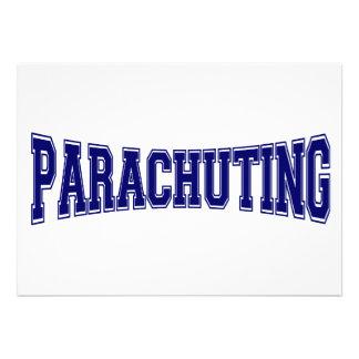 Parachuting University Style Personalized Invite
