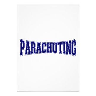 Parachuting University Style Personalized Invitations
