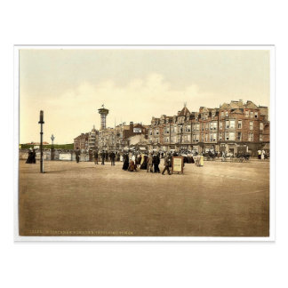 Parade and revolving tower, Morecambe, England rar Postcard