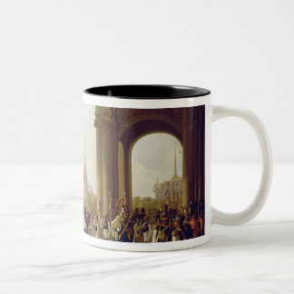 Parade at the Palace Square in St. Peterburg Two-Tone Coffee Mug