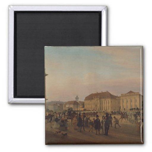 Parade before the royal palace, 1839 refrigerator magnet