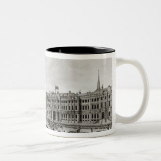Parade in front of the Imperial Palace Two-Tone Coffee Mug