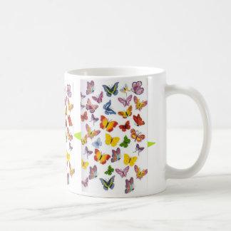 Parade of Butterflies Basic White Mug