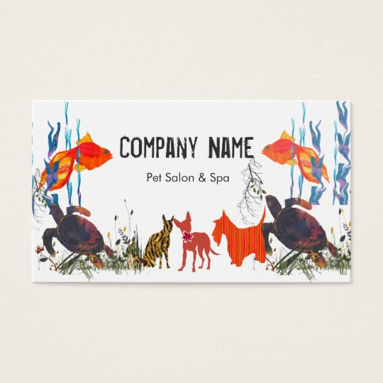 Parade of Pets  Fish Cat Dog Pet Care Appointment Business Card