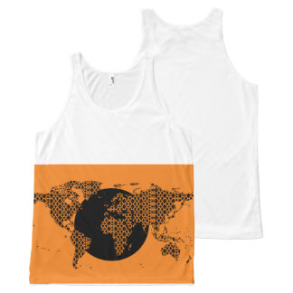 Paradigm World Map - Orange All-Over Print Tank Top