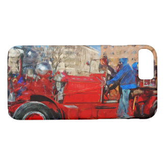 Parading Antique Fire Truck Abstract Impressionism iPhone 7 Case