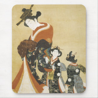 Parading Courtesan with Attendants, Style of Morom Mouse Pad