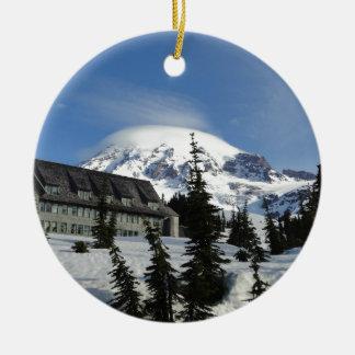 Paradise at Mt. Rainier Round Ceramic Decoration