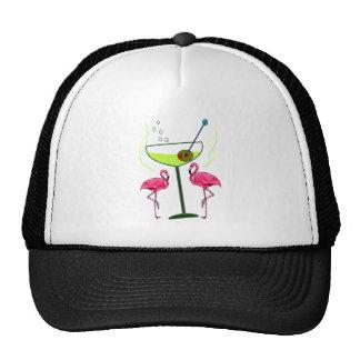 """""""Paradise Awakening""""--Pink flamingo & Martini Cap"""