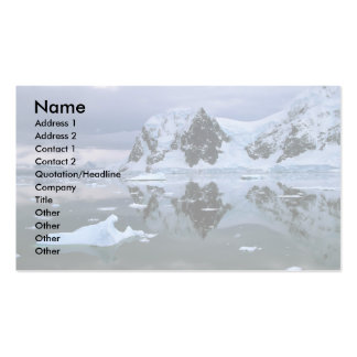 Paradise Bay, Antarctica Business Card Template