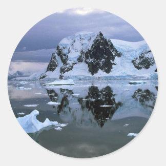 Paradise Bay, Antarctica Round Stickers