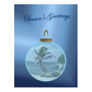 Paradise Beach Christmas Wishes Po... Post Cards
