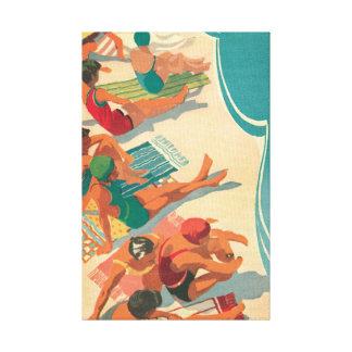 Paradise Beach Club Canvas Prints