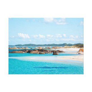 Paradise Beach Emerald Sea Greens Pool Australia Canvas Print